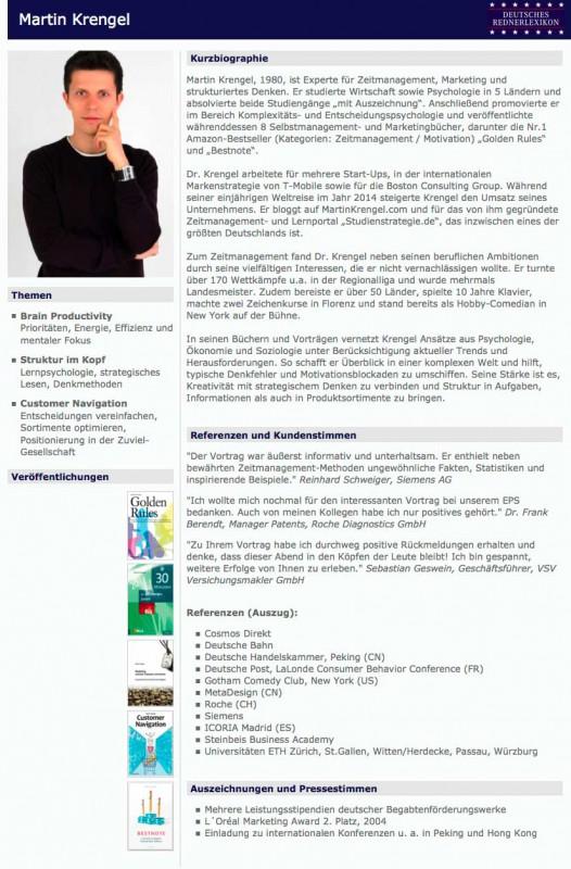 Referent für Zeitmanagement, Marketing und Strukturiertes Denken Martin Krengel - Rednerlexikon
