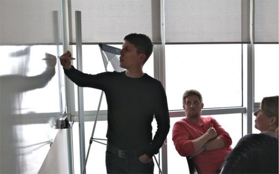 Vortrag & Workshop Customer Navigation Martin Krengel an der Tafel