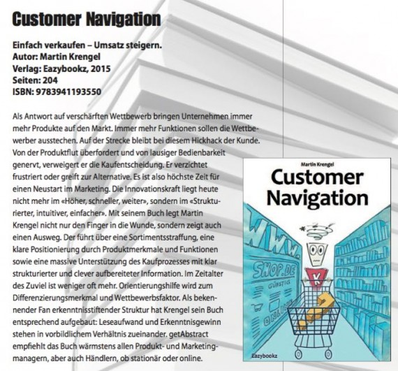 Marketing-Buch-Usabilty-Conversation-Optimierung-Zuvielitis-Zuvielgesellschaft-Paradox-of-Choice-Nudge-Pressereferenz-Werbewoche 2016-Dr-Martin-Krengel-Marketingexperte