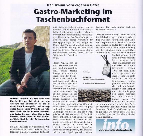 Marketing Buch von Martin Krengel - Vorstellung Rezension Stadtmagazin Witten