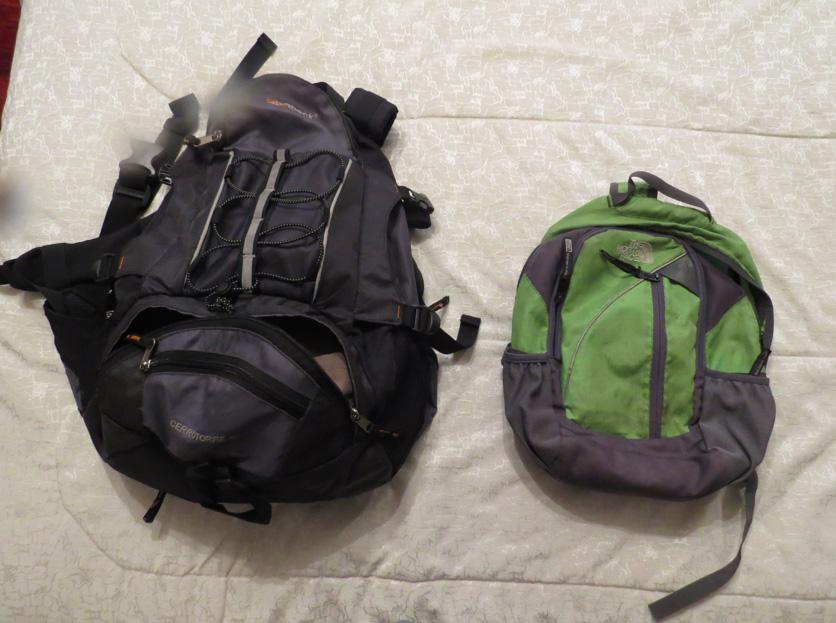 Zwei Rucksäcke in einem - Trekking und Stadtausrüstung