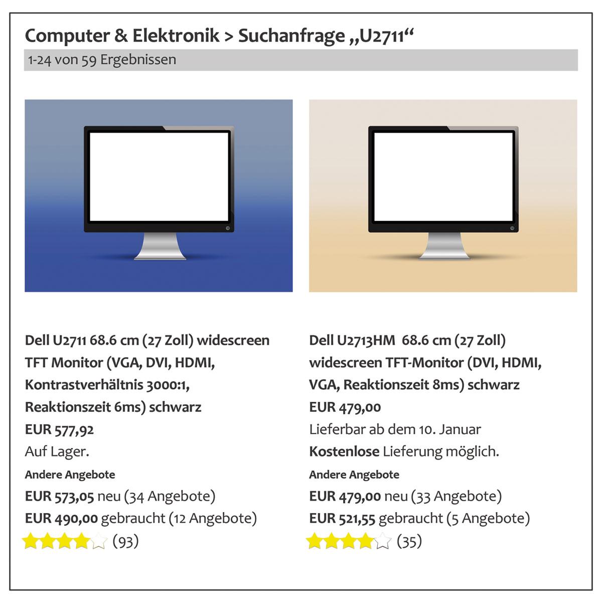 Conversion Rate Optimierung - Unübersichtliche Informationsdarstellung in Online Shops