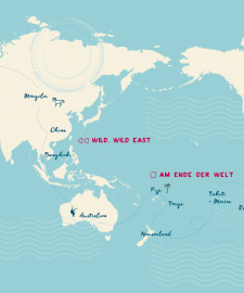 Stoppt die Welt von Martin Krengel – die Reiseroute meiner Weltreise