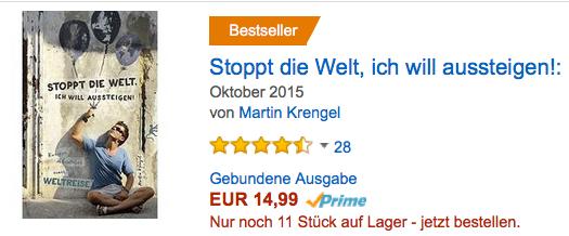 Reisebericht Reisebuch Weltreise Buch Ratgeber Reise planen Bestseller - von Martin Krengel - Backpacking - Weltreise kosten planen route