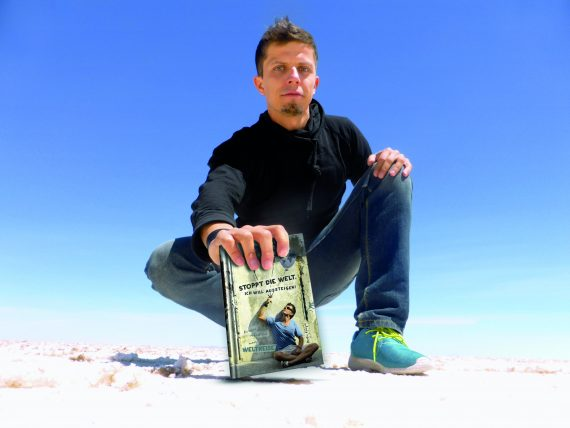Reisebuch Autor Martin Krengel präsentiert Die besten und geilsten sprueche und Zitat zum reisen-zitate-reisesprueche als Abschidesgeschenk-Buch-Stoppt die Welt-ich will aussteigen