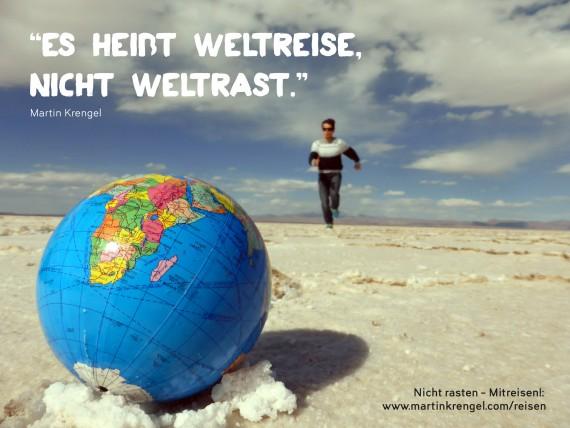 Lustige Sprüche und Bilder übers Reisen - Urlaubssprüche und Travel Quotes zur Weltreise und Weltrast von Martin Krengel