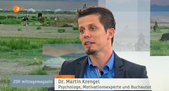 Lampenfieber-Pruefungsangst-Was ich gelernt habe- Gehe dahin wo die Angst sitzt - Dr Martin Krengel im Interview beim ZDF zum Thema - Weltreise und Persoenlichkeitsentwicklung