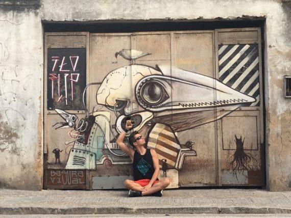 Street Art in Salvador de Bahia - Brazilien - Martin Krengel - Stoppt die Welt-Ich will aussteigen